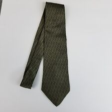 Metropolitan View Mens Tie Green 100% Silk Classic Length