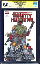 Bounty Hunters #1 BLANK CGC SS 9.8 signed BOBA FETT SKETCH Castrillo STAR WARS