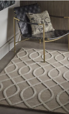 Origin Hotel  Glamour Hand Tufted Luxury Wool/Viscose Blend Rug Beige  3D