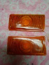 1950 Ford glass parking light lens Amber New Old Stock