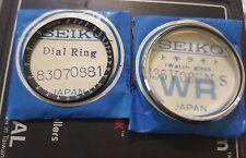 NOS SEIKO CRYSTAL 335V08GNS /DIAL RING FOR 6139-7030/39 AUTO CHRONOGRAPH