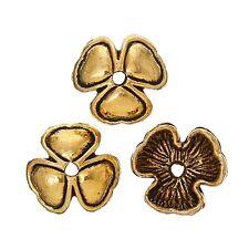 30x perlas tapas perlkappen remates filigrana flores para 10 mm perlas metal