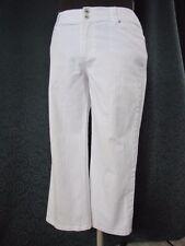 "Chico's White Capri Jeans Size 2 Reg 37"" Waist Size 14 Embellished pockets"
