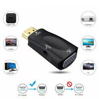 1080P HDMI to VGA Adapter Audio Cable Converter For PC Laptop Computer Display