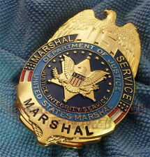 Nicely United States Marshals Service Metal Badge US Department of Justice Badge