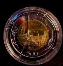 500 Lire Bimetallico  1991  Proof Fondo Specchio