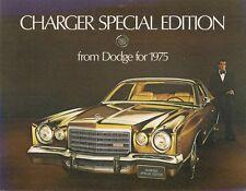 DODGE CHARGER EDIZIONE SPECIALE 1975 mercato USA BROCHURE DI VENDITA