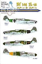 EagleCals Decals 1/72 MESSERSCHMITT Bf-109K-4 Fighter JG27 & JG53