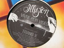 TRANS-X vivre sur video/living on video LANGUIRAND MAXI 1983 ILLUSION canada EX+