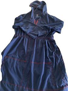 Title Nine Nimbleness  Hoodie  Long Sleeve Dress Blue Size L Adjustable Sides L