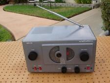 VINTAGE HALLICRAFTERS S-38C AM SHORTWAVE 5 TUBE RECEIVER WORKING & GOOD COND