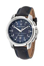Maserati Gents R8851121003 Blue Dial Blue Strap  Steel Case Sports  Watch