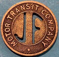 Motor Transit Company Jacksonville, Florida transit token FL380N