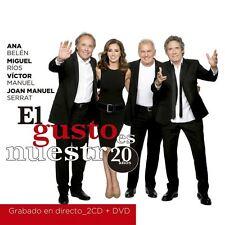 2 CD's + DVD - EL Gusto Es Nuestro 20 anos Ana Belen, Miguel Rios NOW SHIPPING !