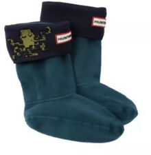 NWT! Hunter Kids Octopus Wellie Rain Boot Socks Sz Large Blue Green