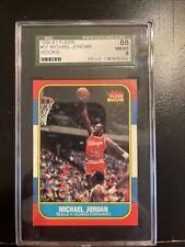1986 86/87 Fleer #57 Michael Jordan RC Rookie SGC 88 NM/MT PSA Invest!