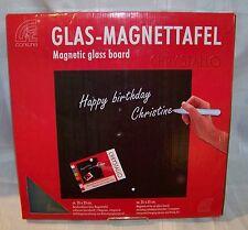 NEW Corkline Magnetic Glass Message Board - 35cm x 35cm - Silver