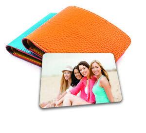 Personalised Metal Photo Card Wallet Purse Gift Newborn Memories Family 85x54mm