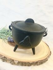cast iron cauldron, Witchy Decor, Spell Pot, Candle Holder