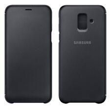 Samsung Wallet Cover ef-wa605cfegww Galaxy A6 Plus 2018 a605f Case Black NEW