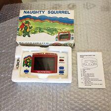 1984# SUNWING VINTAGE NAUGHTY  SQUIRREL LCD GAME& WATCH  SGC-851#NIB