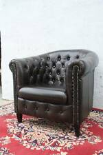 A Chesterfield Tub Chair in 100% Genuine Leather - Various Colours