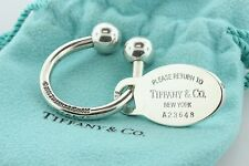 Tiffany & Co. 2001 Sterling Silver 925 Key Chain and Oval Tag