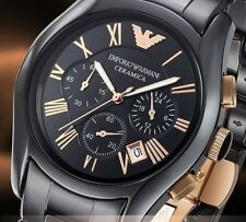 NUOVO EMPORIO ARMANI AR1410 CERAMICA BLACK ROSE Men's Watch