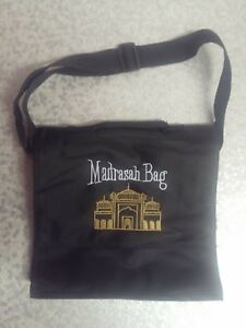 CHILDREN'S MADRASAH BAG   SMALL SIZE   WITH STRAP   BLACK   MOSQUE