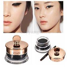 Hot Beauty Waterproof Black Eye Liner Gel Cream Makeup Cosmetic Eyeliner + Brush
