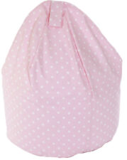 Child Size Pink Spots Bean Bag With Beans By Bean Lazy