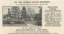 1936 Surrey Hampshire Border 25 Acres 7 Bedrooms For Sale Freehold