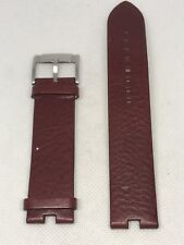 Fossil Band Red Leather Watch Bracelet Strap No pins 22mm C56