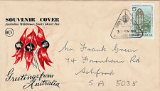 Stamp Australia EUROPA Rocket F7 satellite Woomera launch postmark on WCS cover