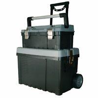 PP Trolley Werkzeug Hartschalen Koffer kiste Kasten Tool cases boxen SET 70977
