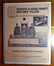 Befco 2-Side-Shift Rotary Tiller Owner's Operator's & Parts Manual S2M1/4068