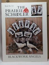 Blackwork Angels Prairie Schooler Cross Stitch Pattern Cardstock OOP BK 103 New
