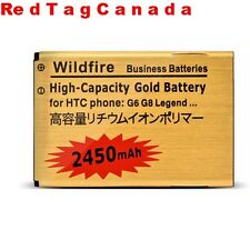 Lithium Ion Gold Business Battery for HTC Wildfire G6 G8 A6363 A315c 2450mah CAN