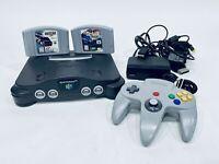 Original Nintendo 64 Console Bundle N64 Controller Cables TESTED Works NUS-001