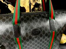 Gucci Italy Duffle Travel Carry On Carryall Bag Mens Collectible Vintage GG Logo