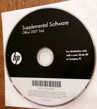 HP or Compaq 32 bit Supplemental Software Office 2007 Trial