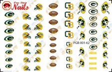62pcs Green Bay Packers Nail Art Decals Stickers Transfers PGB001-62