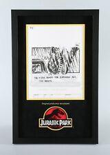 Jurassic Park Original Production Storyboard—T-Rex Nudges Explorer (JP2)