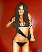 Megan Fox Sexy Authentic Signed 16x20 Photo Auto Smile PSA/DNA COA