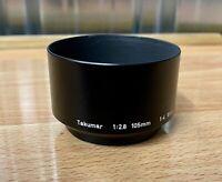 Asahi Pentax Takumar Lens Hood Shade 1:2.8 105mm 1:4 100mm Great Condition