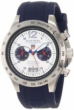 River Woods Women's RWC 1 L WD SCBL Chronograph Blue Rubber Date Wristwatch