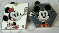 Mickey Hexagon Minnie Mouse Parrallelogram Shapes 2019 Hidden Mickey Disney Pins