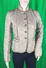 DKNY Donna Karan Beige Bronze Blazer Woman's Coat Jacket 100% Silk Size 2 PreOwn