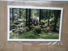 Josh Keyes the SLEEPING WOODS  Art Print Poster Limited Edition w COA
