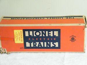 Lionel Trains Postwar 675 Locomotive w/Smoke Chamber ~ Empty Box Only w/insert